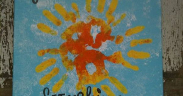 you are my sunshine handprint art.... Kid's room