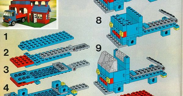 lego police semi truck instructions