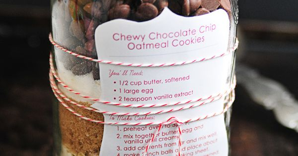 Chewy Chocolate Chip Oatmeal Cookie Mix
