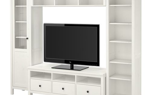 ikea hemnes tv m bel kombination hvid bejdse storage pinterest hemnes ikea og tv. Black Bedroom Furniture Sets. Home Design Ideas