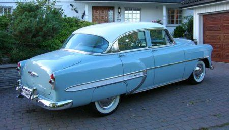 1953 Chevrolet Bel Air 4 Door Sedan Baby Blue Exterior Auto
