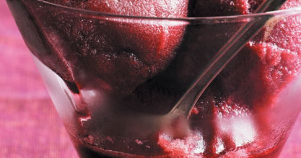 Red Wine Raspberry Sorbet Recipe — Dishmaps