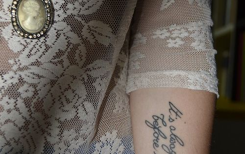 Darkest Before Dawn Quote Tattoo arm tattoo, arm tattoo ideas, quote tattoo,