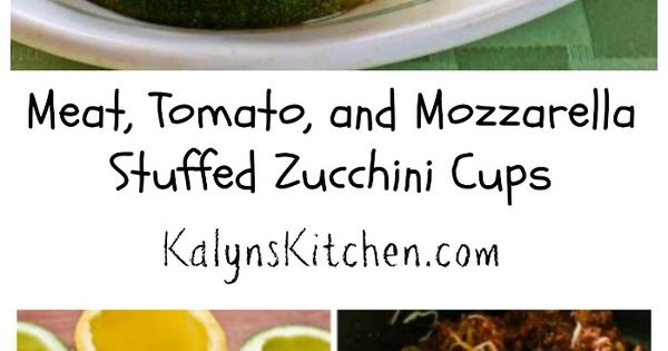 Meat, Tomato, And Mozzarella Stuffed Zucchini Cups Recipe — Dishmaps