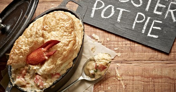 The Maine Event - Lobster Pot Pie: Loaded with creamy lobster bisque,