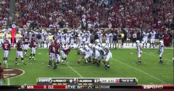 2010 Alabama V Penn State Youtube Alabama Crimson Tide Football Alabama Penn State