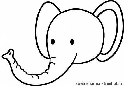 Elephant Face Coloring Elephant Coloring Page Elephant Face Cute Coloring Pages