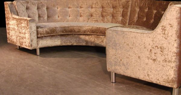 Semi Circle Sofa In Gold Crushed Velvet Home Design Decor