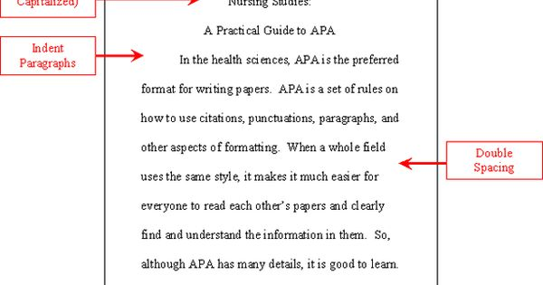 short essay in apa format