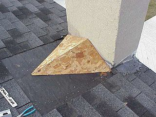 Article About Framing A Roof Saddle To Prevent Water Leakage Where The Roof Meets A Chimney Building Roof Roof Repair Roofing Diy