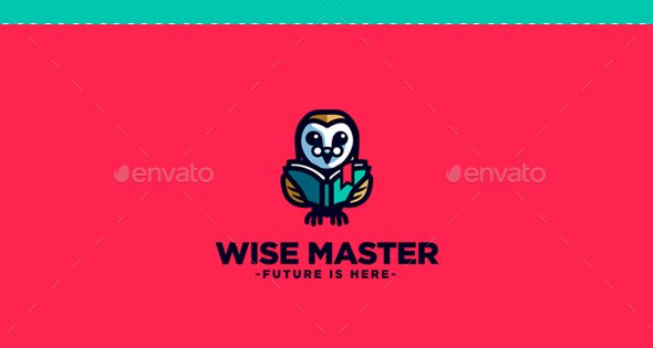 Wise Master – Owl Character Mascot Logo – College Logo Templates