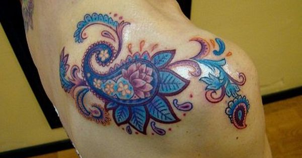 paisley tattoo | Arrows And Embers Custom Tattooing: Paisley Print Tattoo done