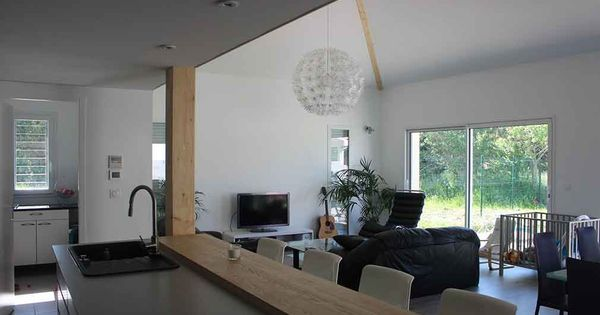 atelier darchitecture scnario maison contemporaine darchitecte avec mezzanine et charpente apparente atelier scnario pinterest mezzanine - Maison Moderne Avecmezzanine