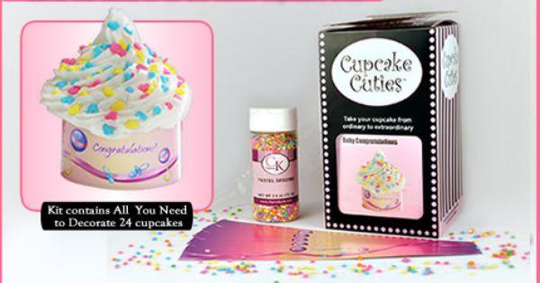 Baby Congratulations Cupcake Cuties Kit  Homemade Yums 4 Sale
