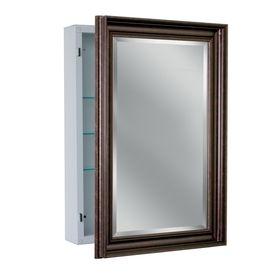 Shop Allen Roth 22 25 In X 30 25 In Copper Metal Surface Mount Medicine Cabi Medicine Cabinet Mirror Surface Mount Medicine Cabinet Bathroom Medicine Cabinet