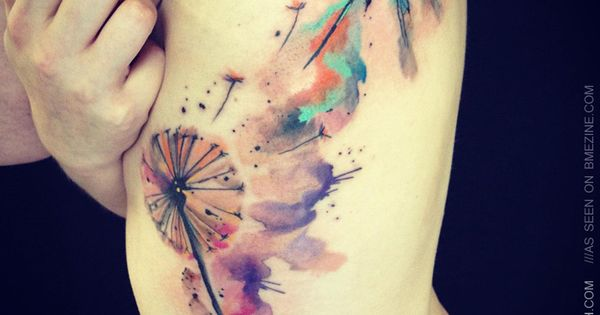 water color tattoos, watercolor tattoos and dandelion tattoos. tattoo tattoos ink