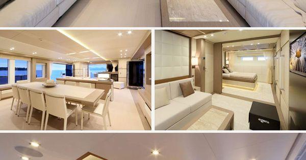 Beyond Comfort: Stunning Interiors in Luxury Yacht - Más allá del confort: