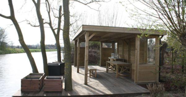 Prieel aan het water prieel overkappingen tuinhuisjes pinterest water tuin en houten - Landelijke chique lounge ...
