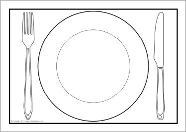 graphic relating to Printable Placemat Template referred to as Supper plate A4 editable templates (SB4904) - SparkleBox