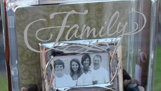 DIY Clear glass block with family picture inside. Get the blocks that open at Micheals ~ cute and good gift idea for friends/family/kids/grands from @ Pin Your Home diy craft tutorial