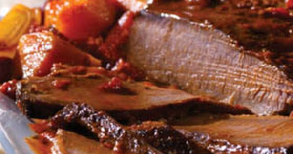 Holiday Brisket with Savory Onion Jus | Recipe | Onions, Brisket and ...