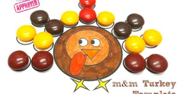 Thanksgiving Activities M M Turkey Template Thanksgiving