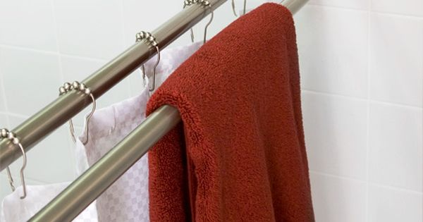 Straight Double Shower Curtain Rod | Double Shower, Double Shower ...