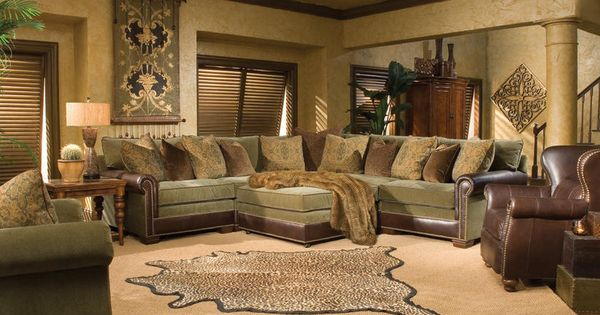 Huntington House Cl7107 Leather Amp Fabric Pit Group