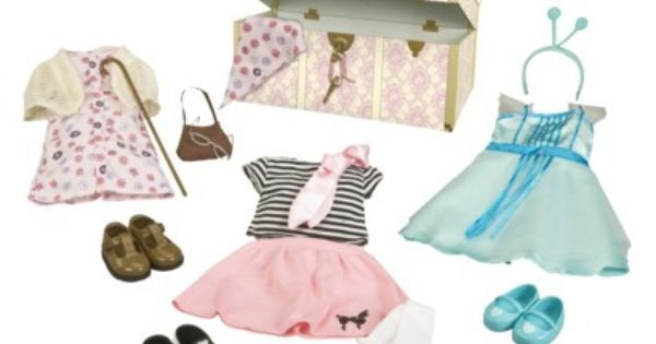 Our Generation Dress Up Trunk With Outfits Emily Gift