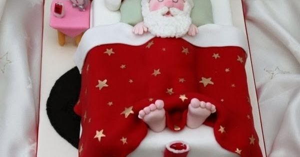Cake Decorating Father Christmas : Christmas cake ... love his feet Cake Pinterest Cake ...