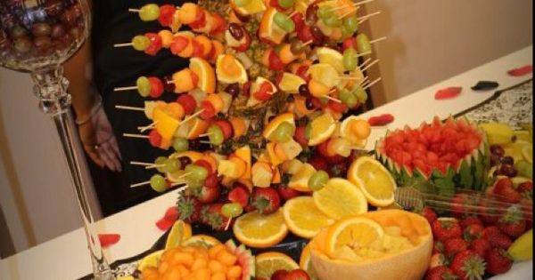 Receptions Food Displays And Prime Time On Pinterest: Fruit Display For A Recent Wedding Reception We Catered