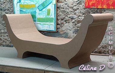 Meridienne Et Sofa En Carton Meuble En Carton Mobilier En Carton Chaise En Carton