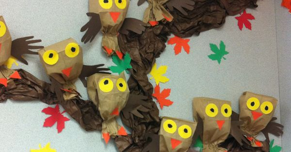 Paper Bag Owls and hand wings - Just Picture - (Use this