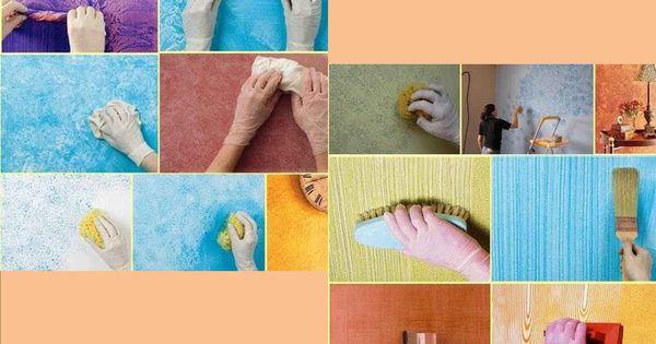 Cuando queremos darle una textura diferente a las paredes - Quiero pintar mi casa ...