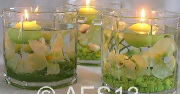 D coration zen bougies id es d co mariage d co florale - Idee deco album photo ...