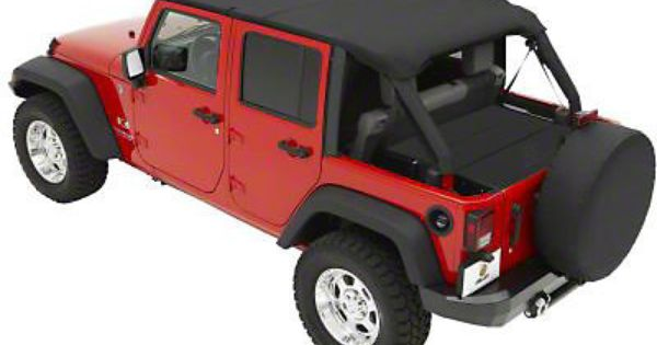 Bestop Header Safari Bikini Black 10 15 Wrangler Jk 4 Door