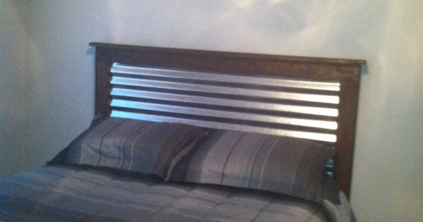 Corrugated Metal On Wood Headboard For Boys Bu S Room