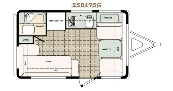 Cargo Trailer Conversion Floor Plans | Floor Plans Standard Features Popular Options