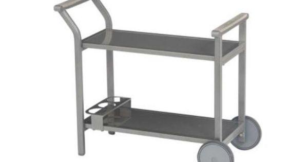 Stern Gartentisch Beistelltisch Servierwagen Milano Aluminium Graphit Glas Grau Kaufen Im Borono Online Shop Gartentisch Servierwagen Aluminium