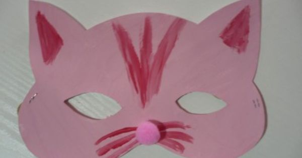 Cat And Bat Masks Preschool Crafts Cat Crafts Family Crafts