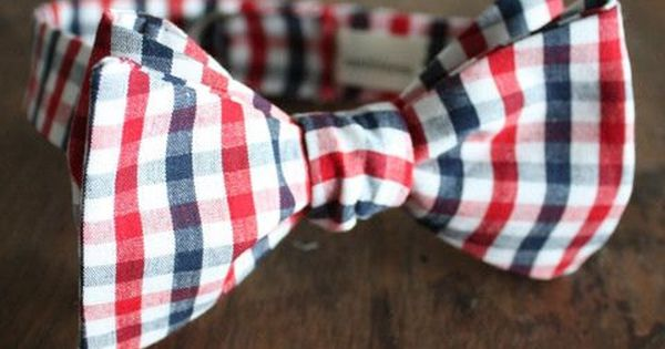 Red White and Blue Checkered Bow Tie Handmade by Lord Wallington on Etsy, $40.00