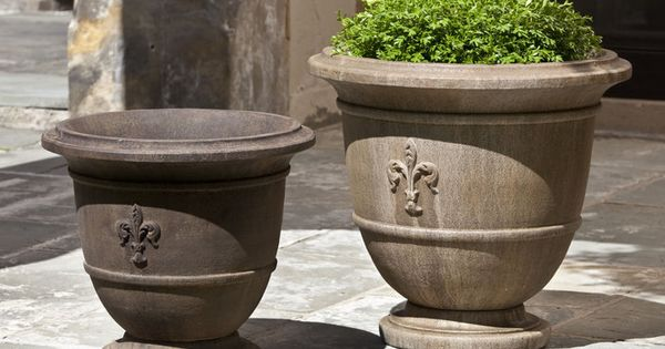 fleur de lis planter set enchanting estates pinterest gardens and yards. Black Bedroom Furniture Sets. Home Design Ideas