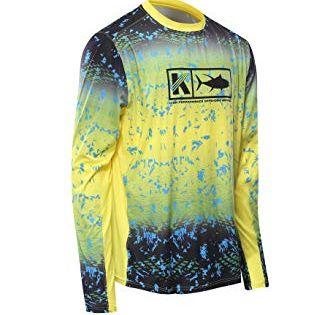 Performance Long Sleeve Shirt Men Upf 50 Mesh Quick Dry Fit