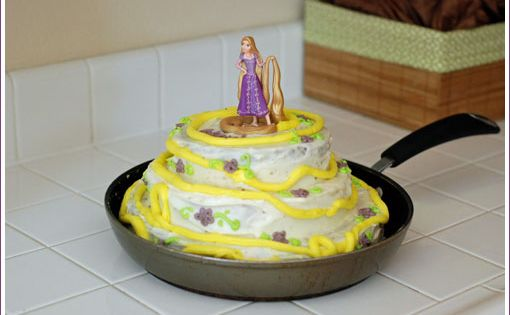Danica - How cute - Tangled Birthday cake (in a skillet!)