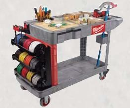Wire Rack For 2500 Foot Spools Of Wire Wire Spool Rack Electrician Tools Milwaukee Tools Tool Cart