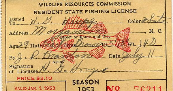 North carolina fishing license crafts more pinterest for Nc fishing laws