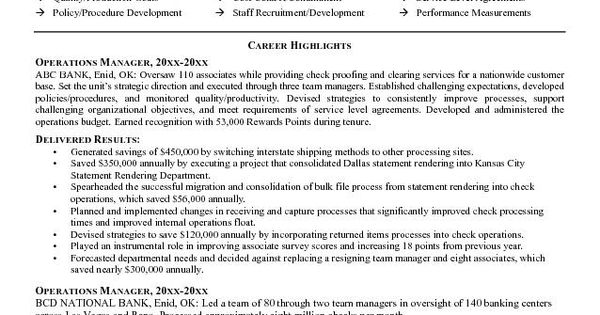 operations manager resume exles 2015 the operations