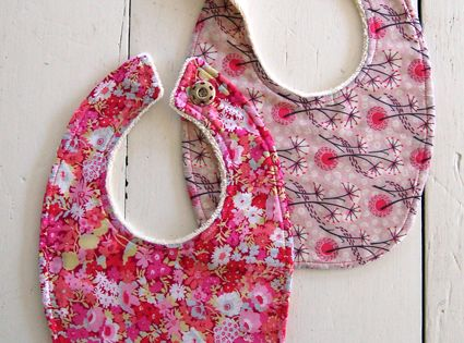 Liberty Baby Bibs 2 Sided Free Sewing Pattern Download