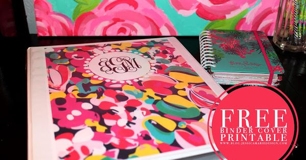 100% Free printable Lilly binder covers