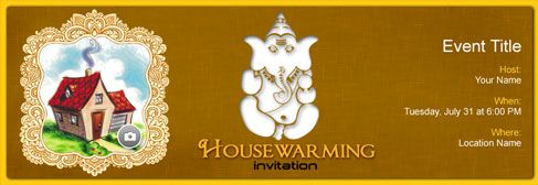 Online House Warming Invitation House Warming Indian